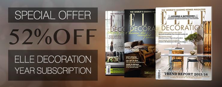 52% Off Elle Decoration Magazine Subscription