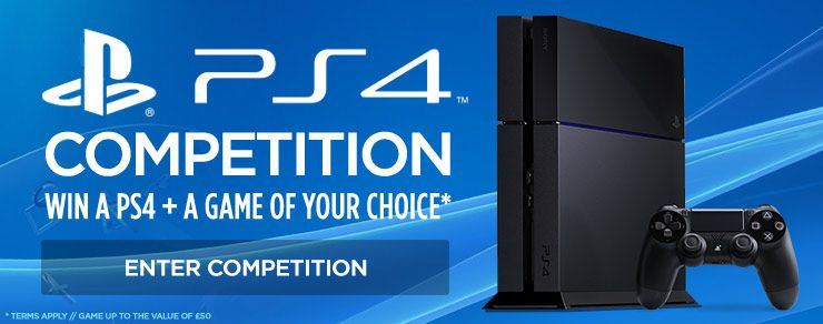 Win a PlayStation 4 + A Game of Your Choice*
