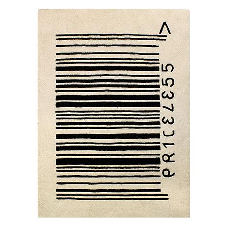 Ben De Lisi White Barcode rug