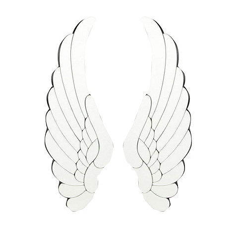 Designer set of two angel wing mirrors