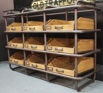 Factory Nine Drawer Sideboard