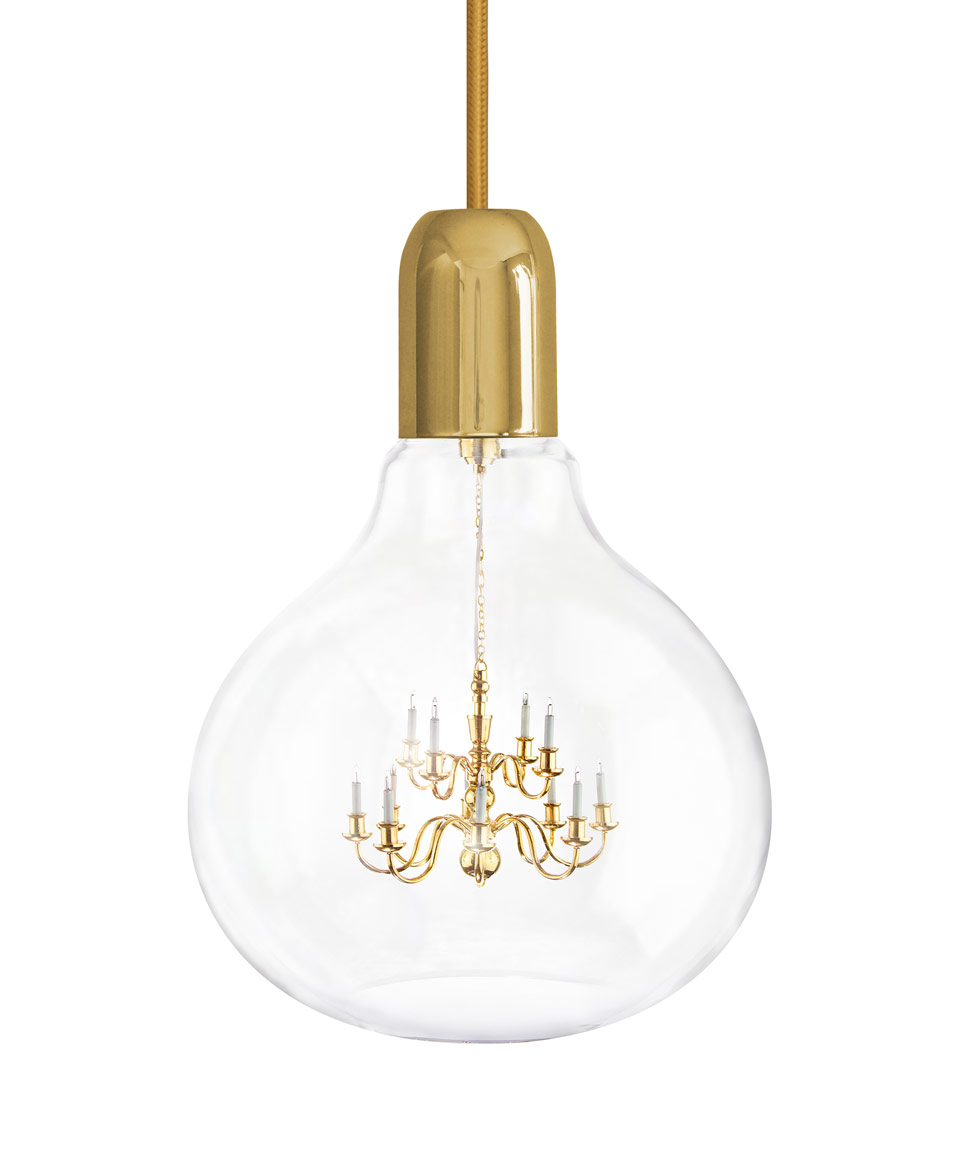 Gold Plated King Edison Pendant Lamp