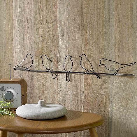 Graham & Brown Metallic Birds on a Wire Wall Art