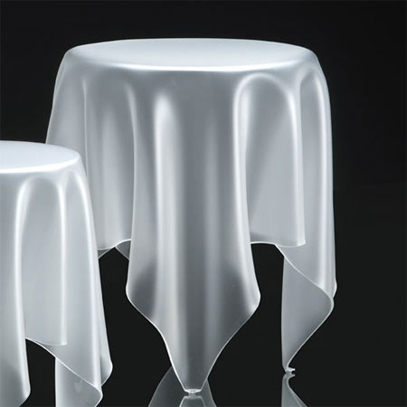 Grand Illusion Side Table in Ice