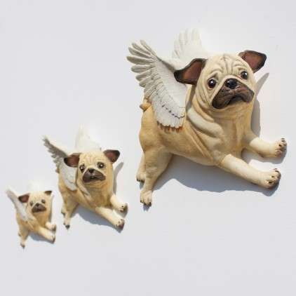 Hand Painted Flying Pugs