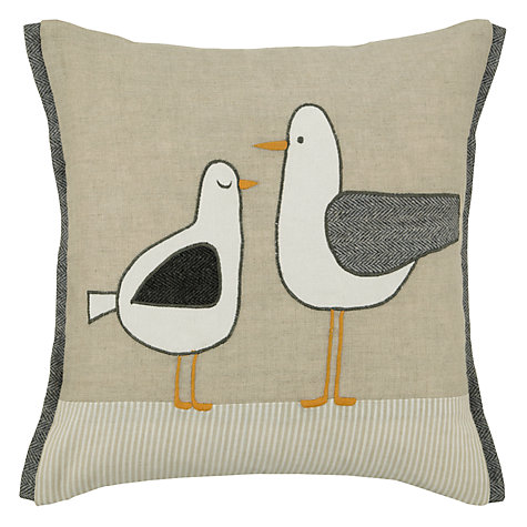 John Lewis Standing Seagulls Cushion