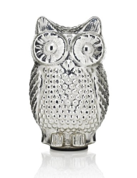 Large Glass Light Up Owl
