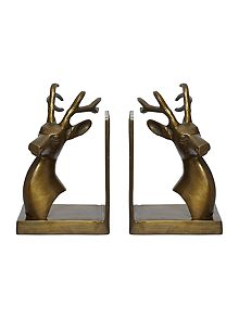 Living by christiane lemieux stag bookends from house of fraser - Stag book ends ...