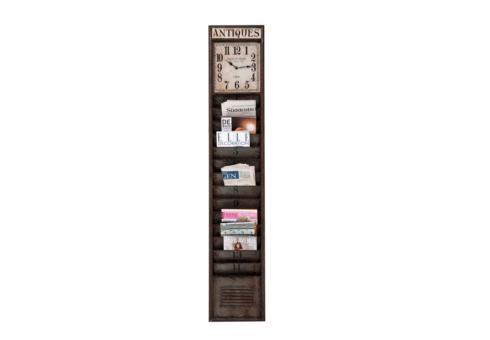 Magazine Rack Wall Clock