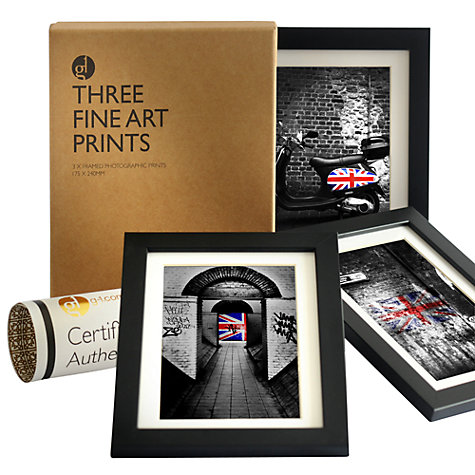 Set of 3 Gallery One Union Jack Fine Art Framed Prints