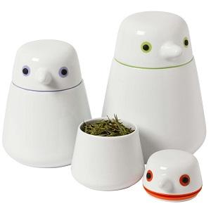 Set of 3 QDO Birdie Storage Jars