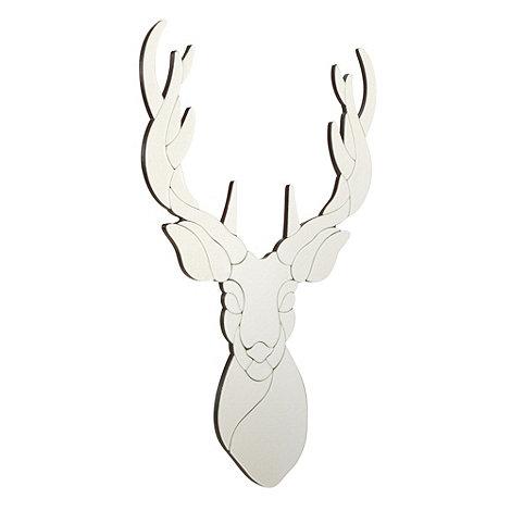Silver stag mirror