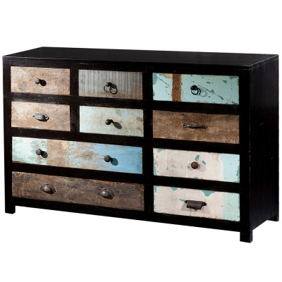 The Portobello 10 Drawer Wide Cabinet