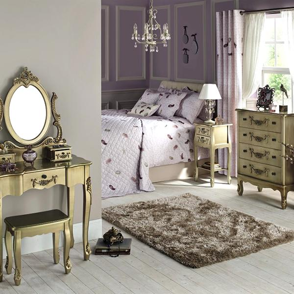 Toulouse Gold Bedroom Collection From Dunelm