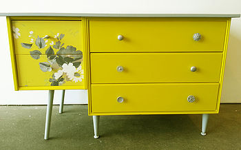 Up Cycled Five Drawer Sideboard