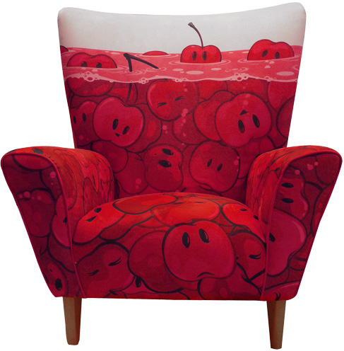 Zutto Cherries Limited Edition Wingchair