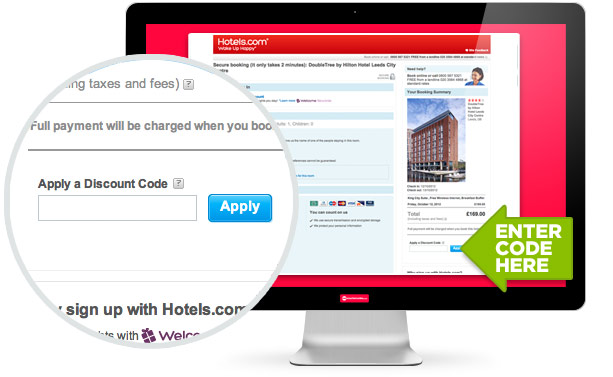where to use this Hotels.com code
