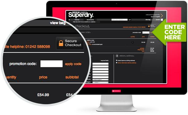 where to use this Superdry code