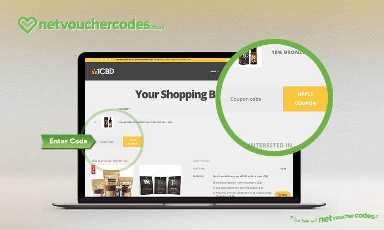 Where to enter your 1CBD coupon code