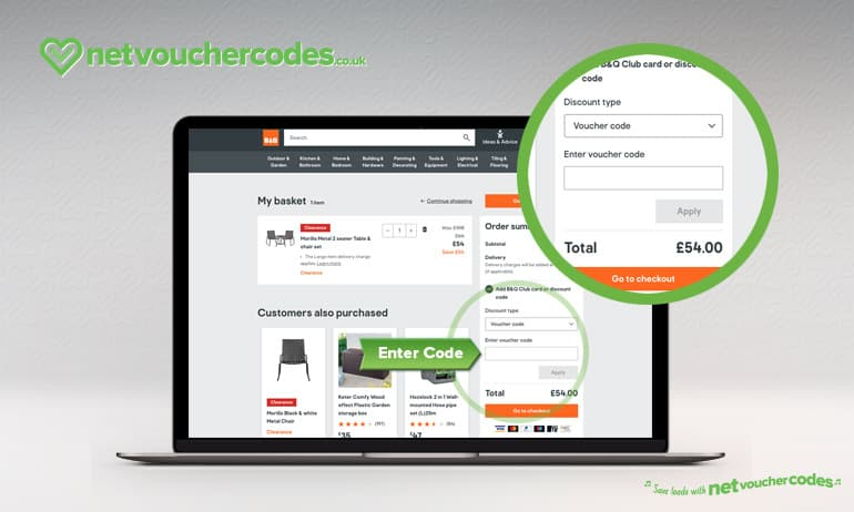Where to enter your B&Q discount code