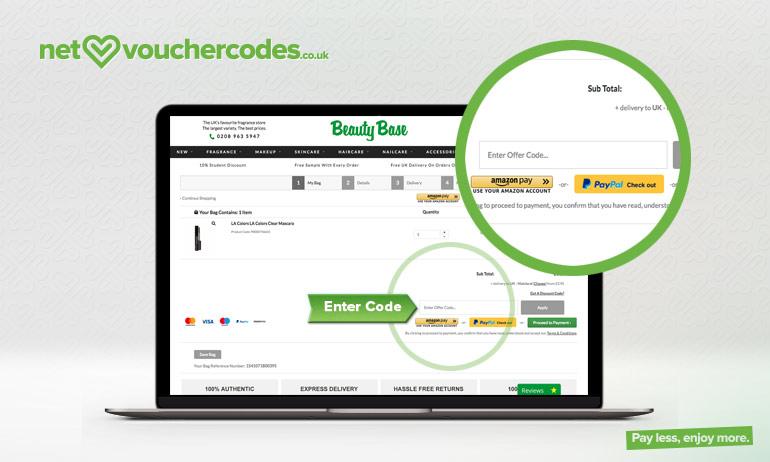 beautybase where to enter code