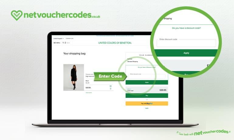 Where to enter your Benetton Discount code