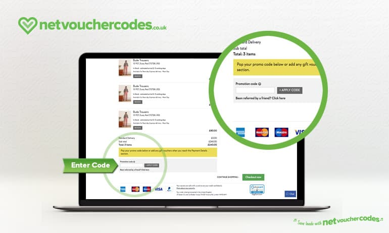 Where to enter your Boden Discount Code