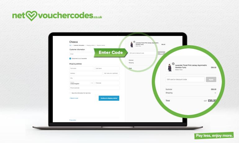 chesca direct where to enter code