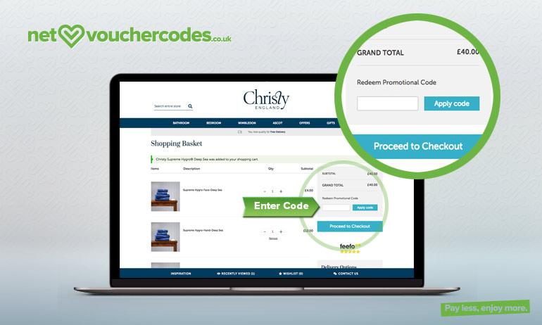 christy where to enter code