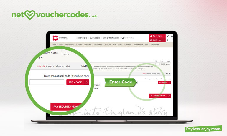 english heritage where to enter code