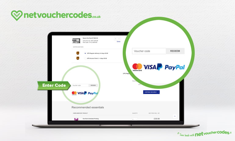 Where to enter your Epson Voucher Code