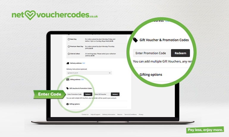feelunique where to enter code