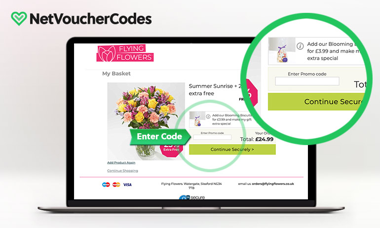 flying flowers where to enter code