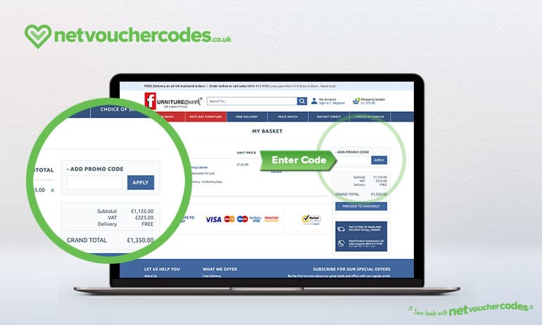 Where to enter your Furniture at Work promo code