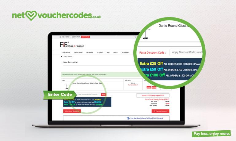 furnitureinfashion where to enter code