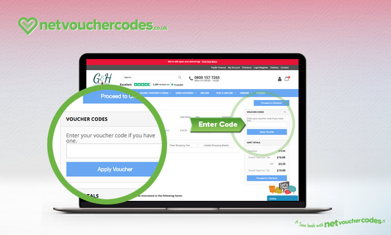 Where to enter your Gardens and Homes Direct code