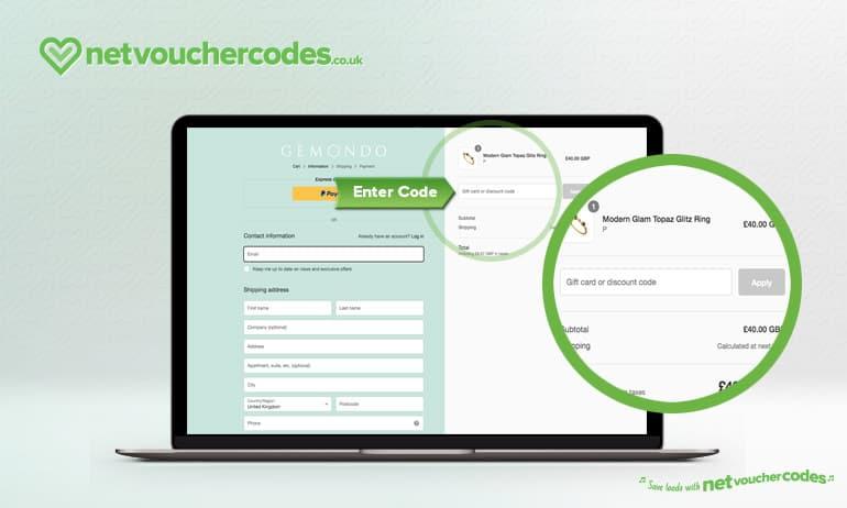 gemondo where to enter code