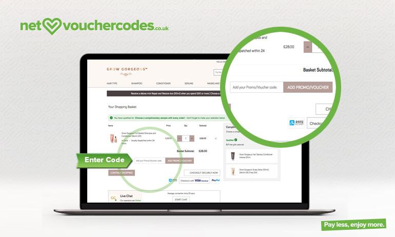 growgorgeous where to enter code
