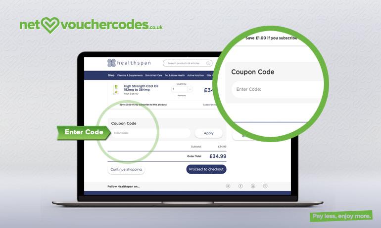 healthspan where to enter code