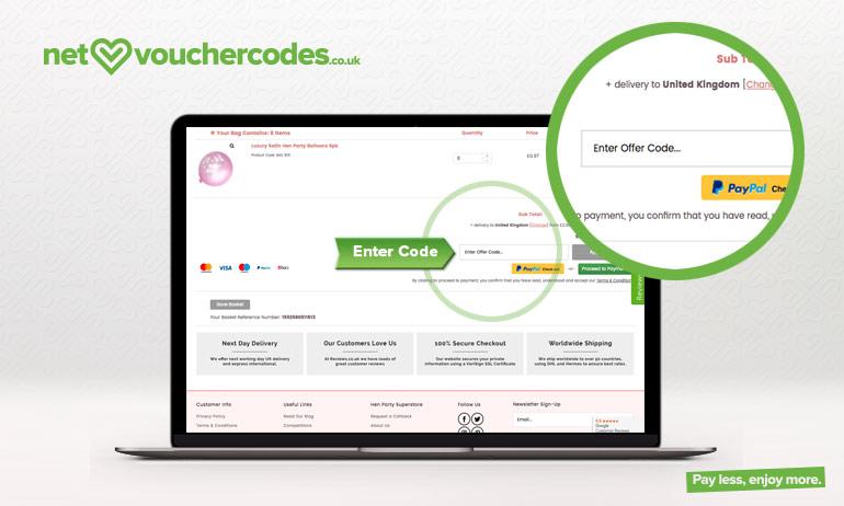 06f952f5fb HEN PARTY SUPERSTORE Offer Codes June 2019   Net Voucher Codes