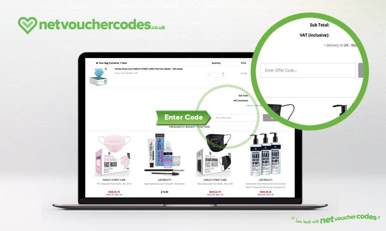Where to enter your Just Beauty Discount Code