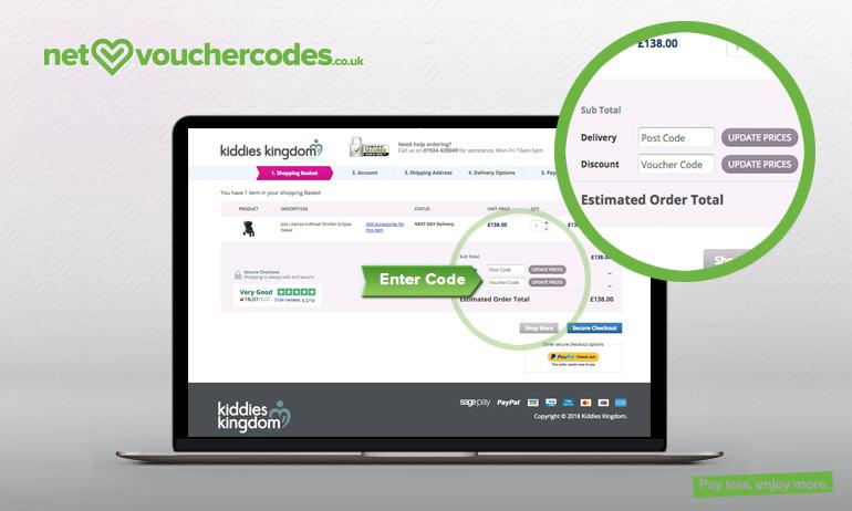 kiddies kingdom where to enter code