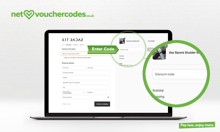 Where to use your Kit Radar discount code