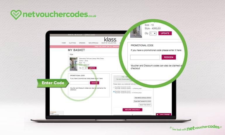Where to enter your Klass Discount Code