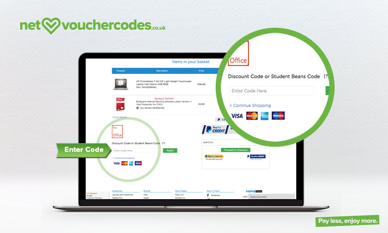 Where to enter your Laptop Outlet discount code