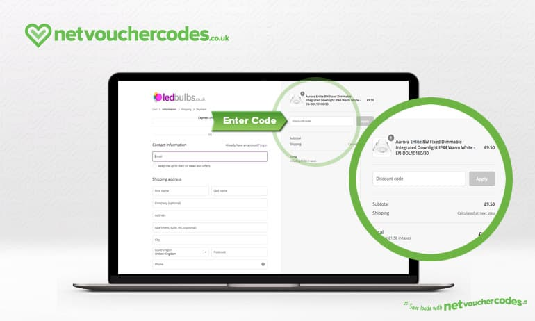 Where to enter your LED Bulbs Discount Code