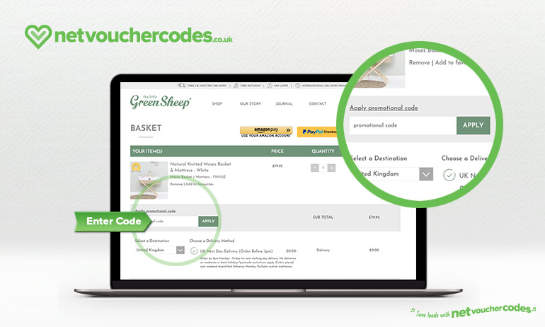 using discount codes with Little Green Sheep