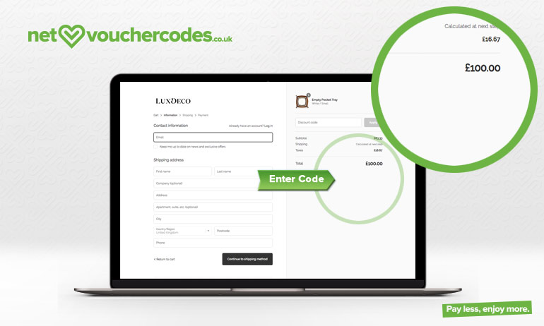Where to use your LuxDeco voucher code