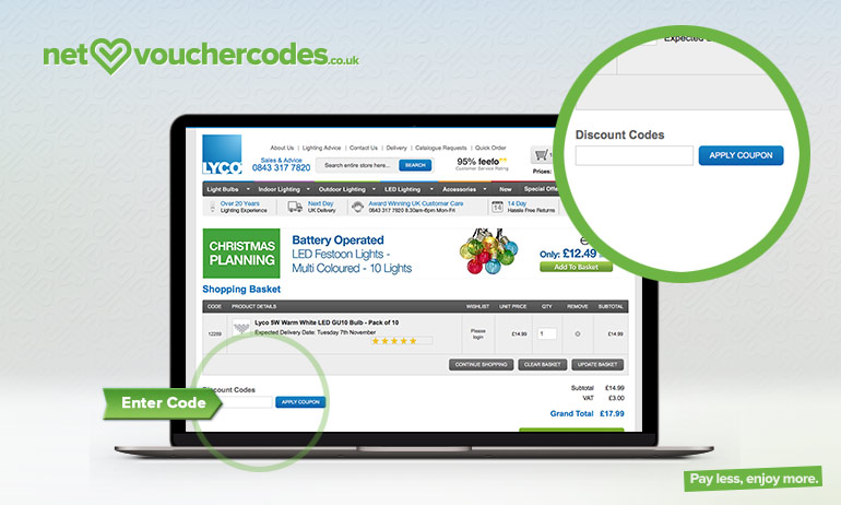 lyco where to enter code