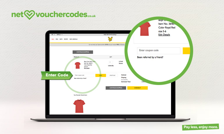 lyle and scott where to enter code